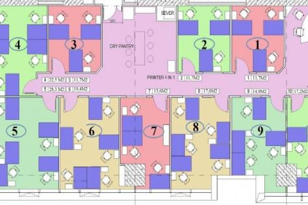 Plan view of Business Center